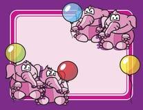 Elephants balloons background Stock Photos