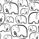 Elephants. Black and white Royalty Free Stock Images