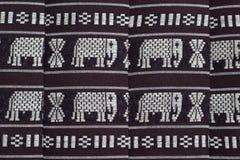 The elephants. On Cotton fabrics Stock Photos