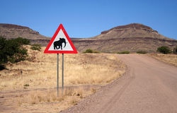 Elephants Crossing Stock Photography