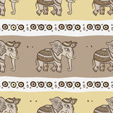 Elephants. Ethnic seamless background. Stock Photography