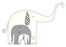 Elephants family Royalty Free Stock Photography