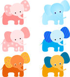 Elephants Illustrations Royalty Free Stock Images