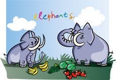 Elephants on the jungle Royalty Free Stock Image