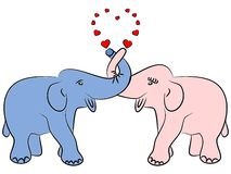 Elephants in love Royalty Free Stock Image