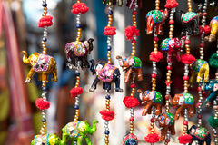 Elephants in market stock photos
