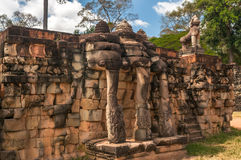 Elephants. Parade of Elephants in Angkor Complex Royalty Free Stock Image