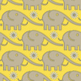Elephants pattern Stock Images