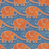 Elephants pattern Royalty Free Stock Photos