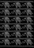 Elephants pattern Royalty Free Stock Photography
