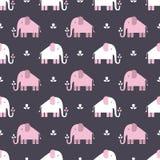 Elephants pattern Royalty Free Stock Photo