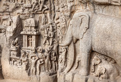 Elephants rock in Mamallapuram Stock Photography