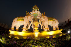 The Elephants sculpture in Bangkok . Stock Images