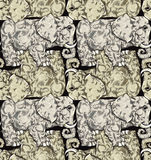 Elephants seamless pattern. Stock Image