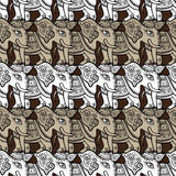 Elephants. Seamless pattern Royalty Free Stock Images