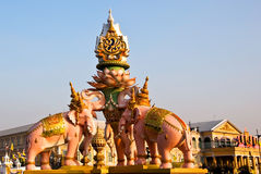 Elephants statue decoration for King Royalty Free Stock Photography
