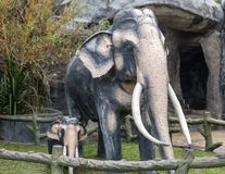 Elephants statue at Golden Temple Stock Photo