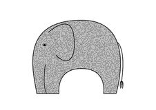 Elephants stylized Stock Photography