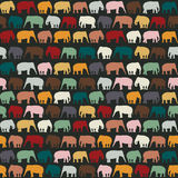 Elephants texture. Seamless pattern for textile, website background, book cover, packaging Royalty Free Stock Photography