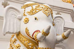 Elephants in traditional Thai style molding art Stock Image