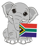 Elephat and national flag Stock Photography