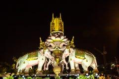 3 elephent beeldhouwwerken Royalty-vrije Stock Foto
