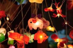 Elephent lampa Zdjęcie Royalty Free