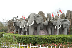 Elephents sculpture Royalty Free Stock Photos