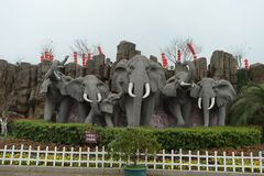 Elephents sculpture royalty free stock image