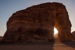 Eleplant岩层在沙特阿拉伯的沙漠 免版税库存图片