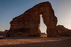 Eleplant Rock formation in the deserts of Saudi Arabia Royalty Free Stock Images