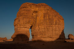 Eleplant Rock formation in the deserts of Saudi Arabia Stock Image