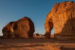Eleplant Rock formation in the deserts of Saudi Arabia Stock Image