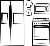 Eletrônica da cozinha Fotos de Stock Royalty Free