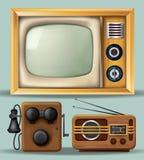 Eletrônica do vintage ilustração royalty free
