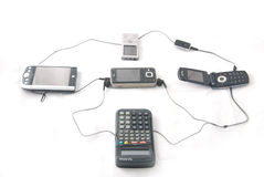 Eletrônica moderna foto de stock royalty free