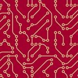 Eletrônica (papel de parede sem emenda do vetor) Fotos de Stock Royalty Free