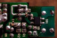 Eletrônica, peças eletrônicas, peças do smd foto de stock royalty free