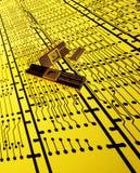 Eletrônica - circuitos impressos e microprocessadores imagens de stock