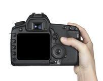 Eletrônica da fotografia da câmara digital Foto de Stock