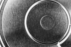 Eletrônica da geometria, tampa do disco rígido do close up foto de stock