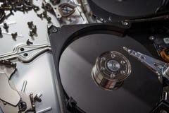 Eletrônica da sucata do disco rígido Imagens de Stock Royalty Free