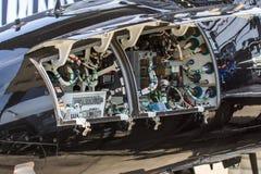 Eletrônica de aviões fotografia de stock royalty free