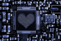 Eletrônica do amor   Imagem de Stock