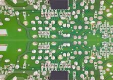 Eletrônico integrado - detalhe macro do espelho dos circuitos tecnologia Fotografia de Stock Royalty Free