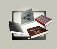 Eletrônico, projeto de conceito do ebook. Imagens de Stock Royalty Free