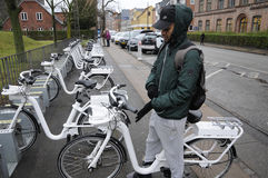 ELETRIC自行车 免版税库存照片