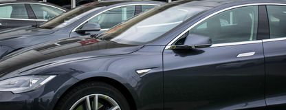Ultimate Eletric Car line up The Tesla Line Up Stock Photography