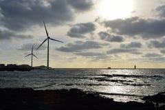Eletric Power Generator Wind Turbine Stock Image