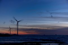 Eletric Power Generator Wind Turbine Royalty Free Stock Image